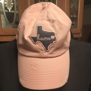 Brand New pink Texas home hat adjustable back